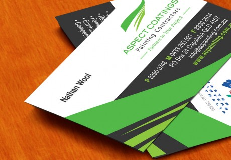Aspect Coating Painter Business Card Designs