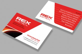 Rex Electrical Business Card Design