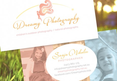 dreamy photography business card