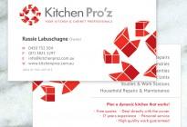 Kitchen Proz business card