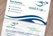 Word It Up Business Card Design