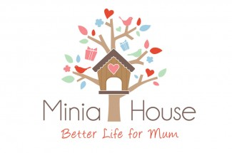 Minia House logo design