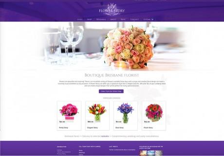 a flower story website design brisbane