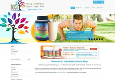 Eden Health Foods Website