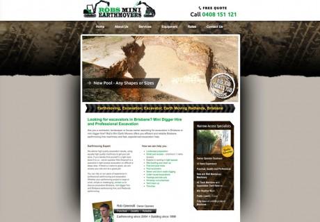 robearthmovers website design